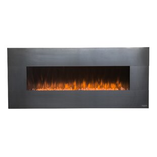 Hertford Stainless Wall Mounted Electric Fireplace by Orren Ellis