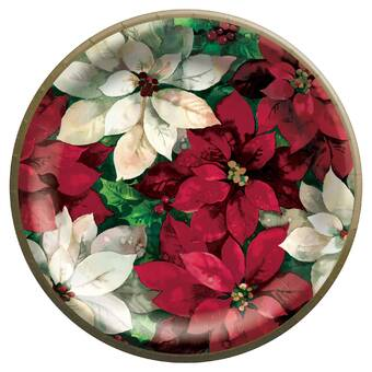 Creative Converting Winter Holly Banquet Heavy Weight Paper Disposable Dinner Plate Wayfair