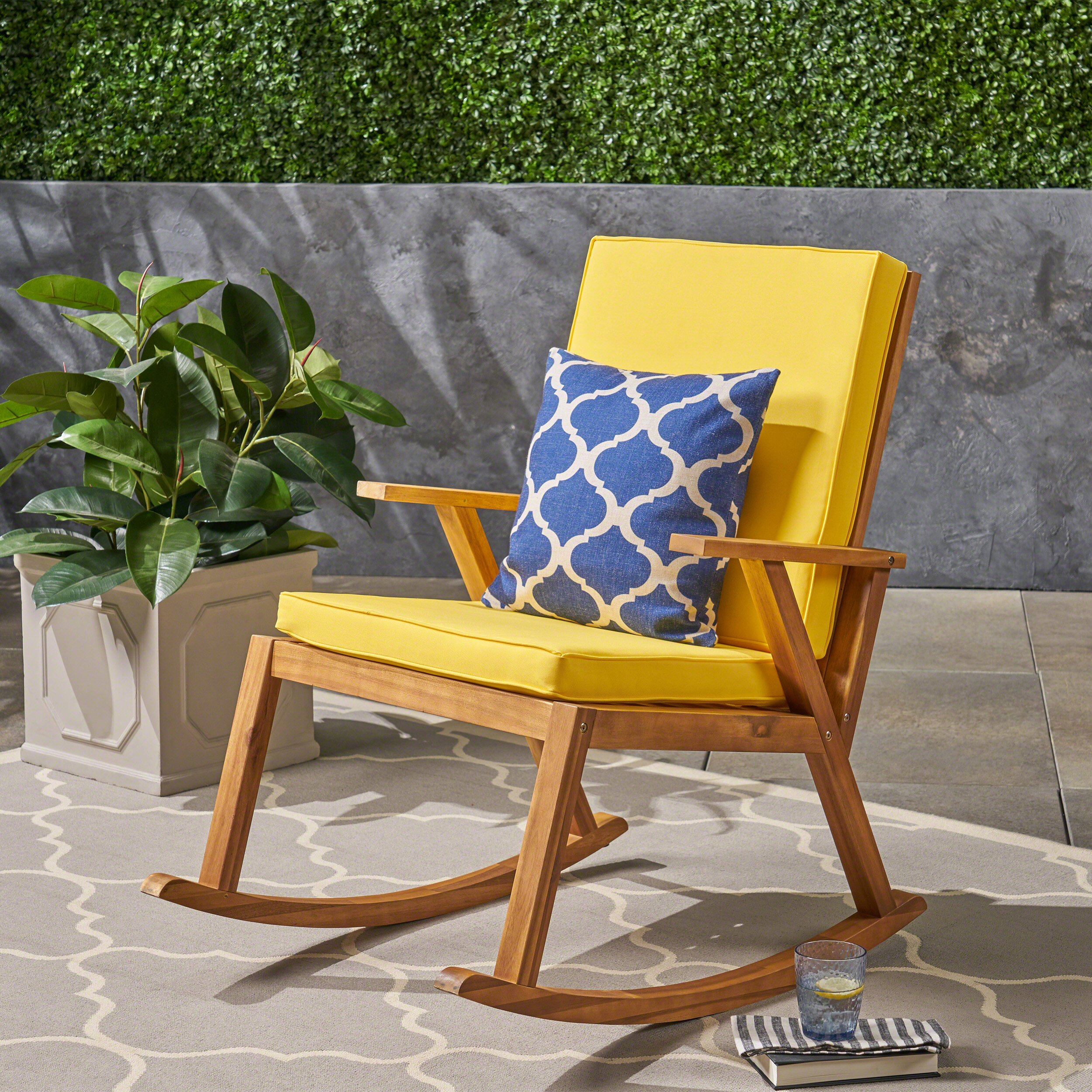 Charmant Larracey Outdoor Rocking Chair With Cushions