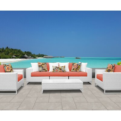 Outstanding Tk Classics Miami 6 Piece Sofa Set With Cushions Cushion Cjindustries Chair Design For Home Cjindustriesco