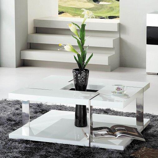 Beautiful Clower Modern Square Coffee Table