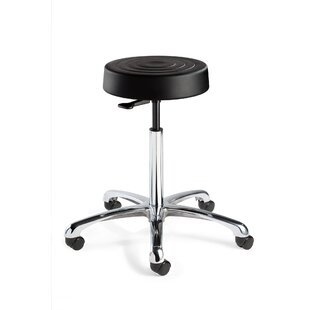 ErgoLux Height Adjustable Backless Stool With Dual-Wheel Hard Floor Casters by BEVCO New