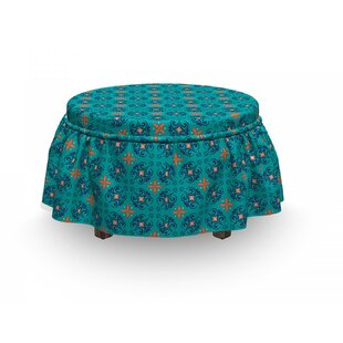 Motifs Curves Ottoman Slipcover (Set Of 2) By East Urban Home