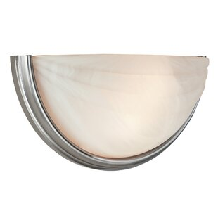 Best Stalbridge 2-Light Wall Sconce with Alabaster Glass By Charlton Home