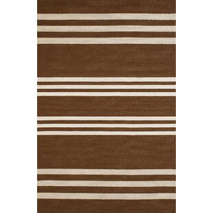 Parallel Hand-Woven Chocolate/White Indoor/Outdoor Area Rug By Panama Jack Home