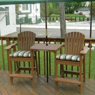 Perfect Choice Plastic Adirondack Chair with Table