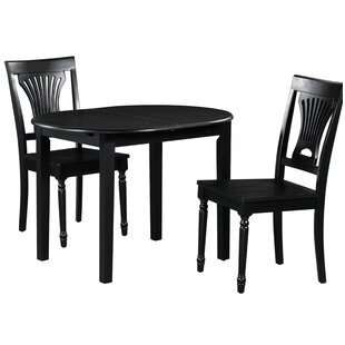 Spillers 3 Piece Extendable Solid Wood Dining Set by Winston Porter