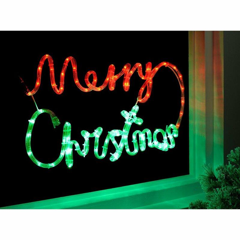 pre lit led merry christmas rope light