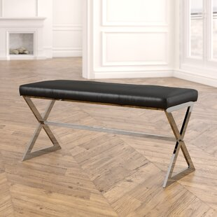 Hurst Faux Leather Bench by Willa Arlo Interiors