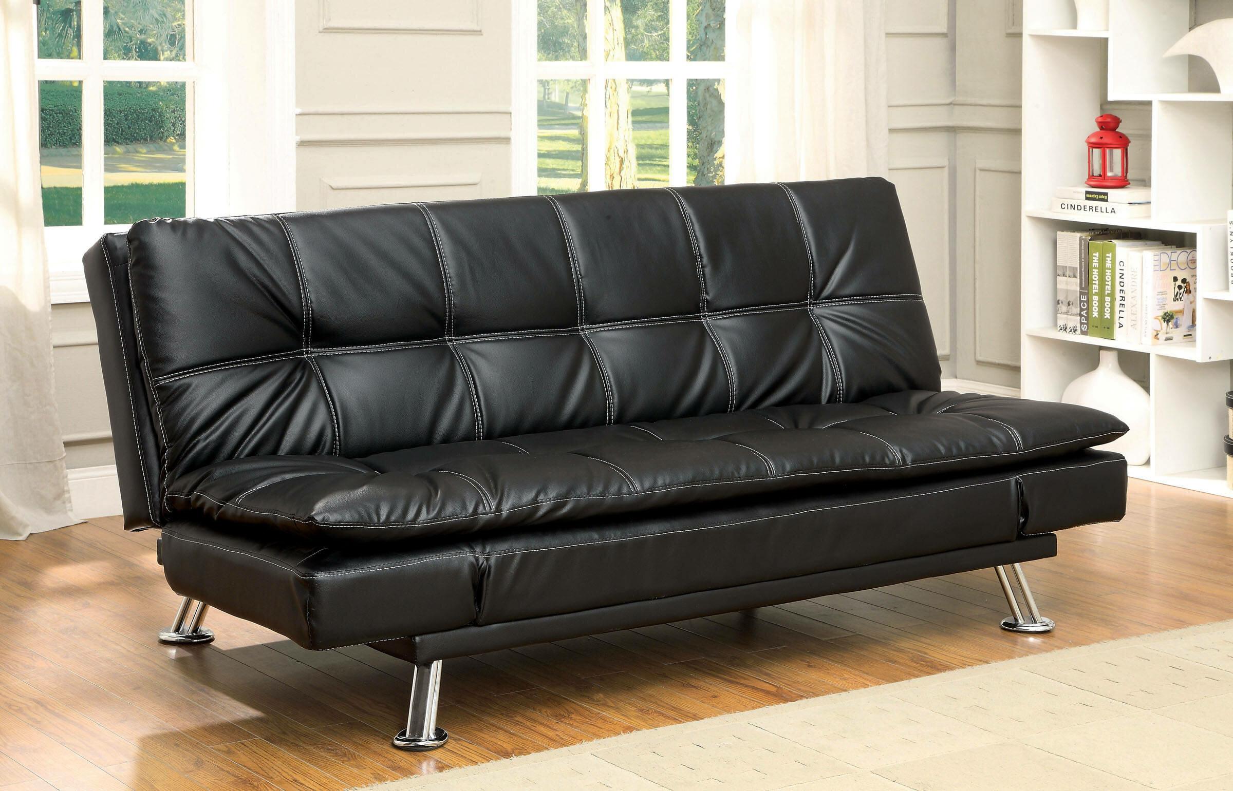 Latitude Run Lhrizi Twin Or Smaller Tufted Back Convertible Sofa Wayfair