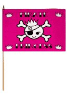 Pirate Princess Traditional Flag and Flagpole Set (Set of 12) By Flags Importer