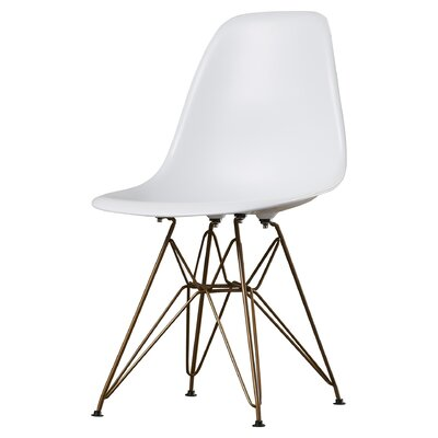 Mohnton Dining Chair Seat Color: White by Wade Logan