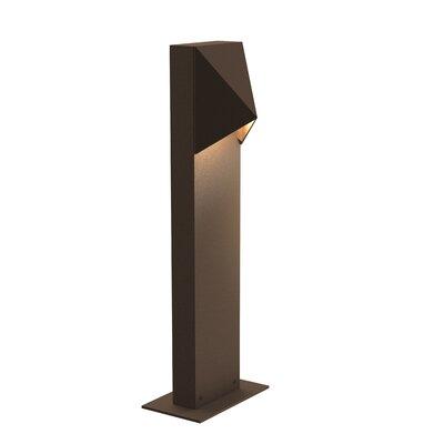 Brayden Studio Annie Compact 1-Light LED Bollard Light Finish: Bronze, Size: 28 H x 3.5 W x 3.25 D