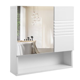 Edward 54 X 55cm Mirrored Wall Mounted Cabinet By House Of Hampton