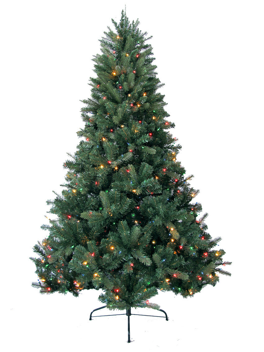 Jolly Workshop 8\' Green Deerwood Fir Artificial Christmas Tree with ...