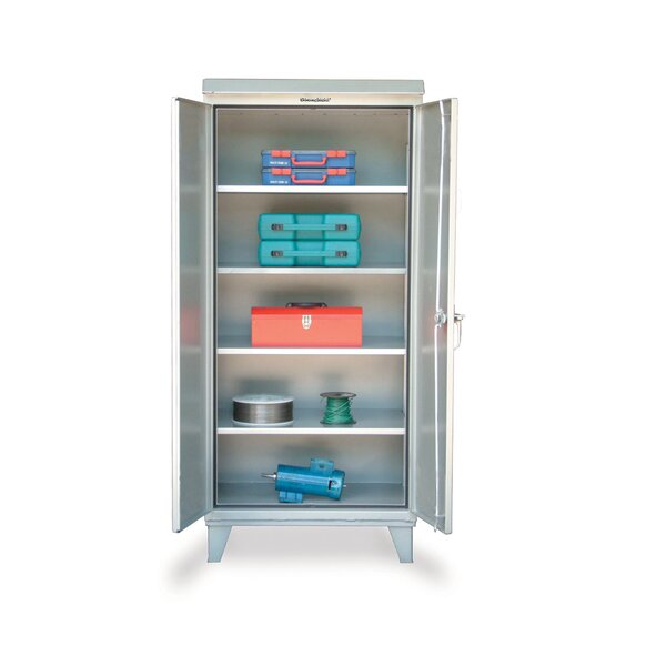 Strong Hold Products 79 75 H X 60 W X 24 D 2 Door Storage Cabinet Wayfair