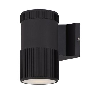 Orren Ellis Leilla Contemporary 1-Light LED Outdoor Sconce