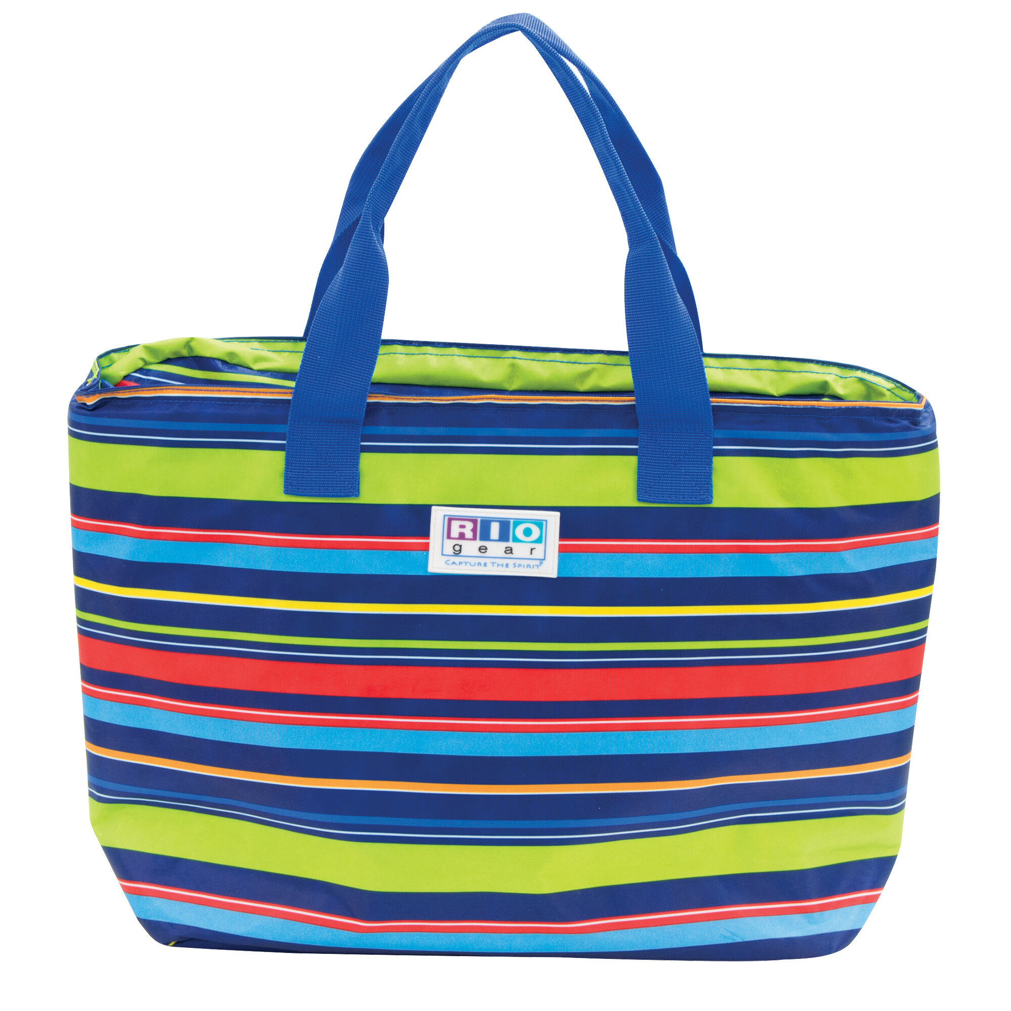 20 Can Gear Insulated Tote Bag Stripe Cooler
