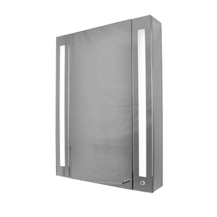 24 x 32 Surface Mount Medicine Cabinet with LED Lighting by Rebrilliant