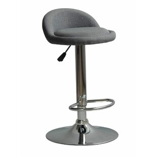 Murrell Contemporary Adjustable Height Swivel Bar Stool