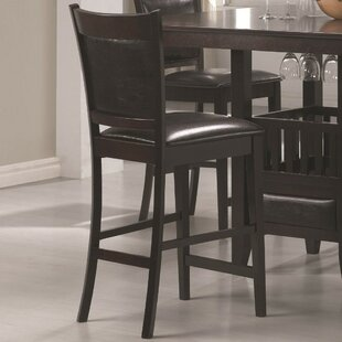 Marchant Vinyl Padded Seat and Back Bar Stool (Set of 2) by Red Barrel Studio