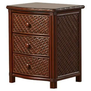 Reviews Dessie 3 Drawer Nightstand by Beachcrest Home