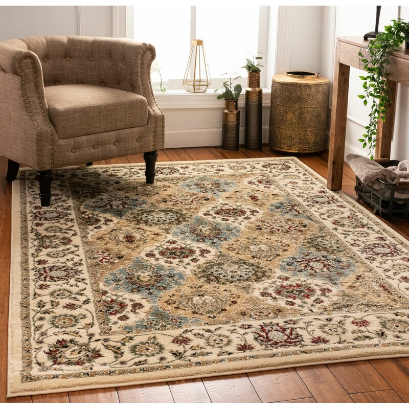 Well Woven Aurora Mia Traditional Panel Brown Beige Blue Area Rug Wayfair