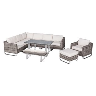 Hollaway 10 Piece Lounge Dining with Cushions by Highland Dunes