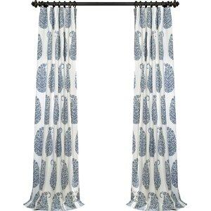Kane Paisley Room Darkening Thermal Rod Pocket Single Curtain Panel
