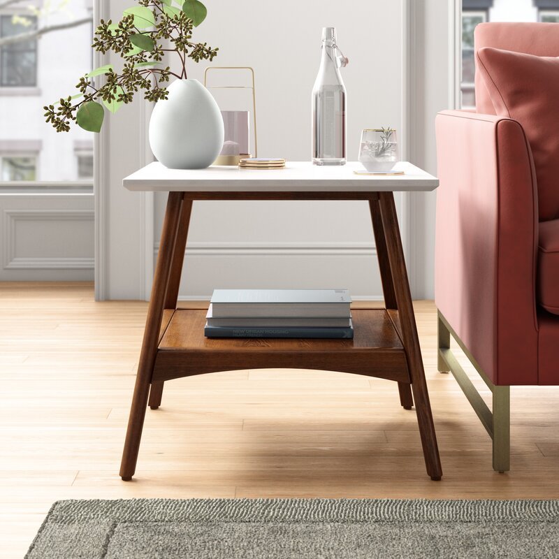 Foundstone Arlo End Table With Storage Reviews