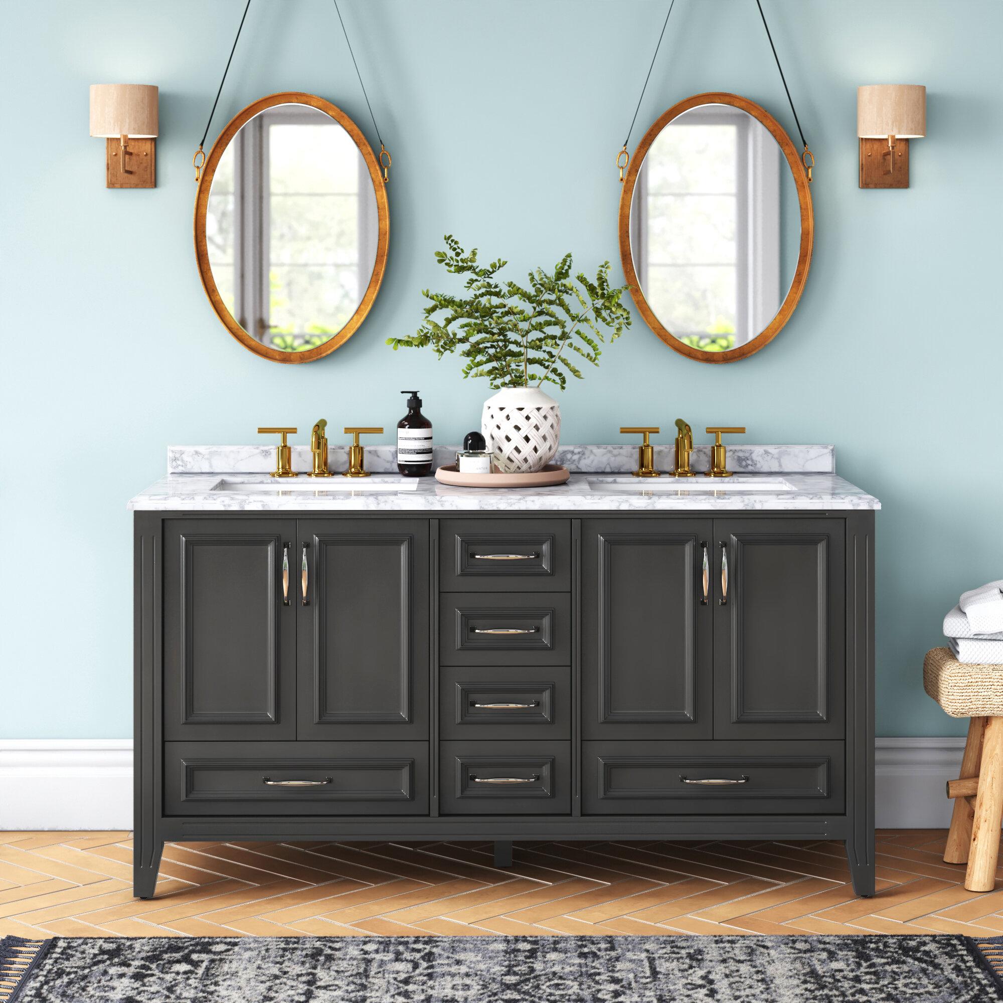 Schulenburg 60 Double Bathroom Vanity Set Reviews Joss Main