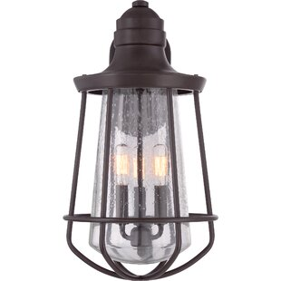 Compare prices Windon 3-Light Outdoor Wall Lantern By Breakwater Bay