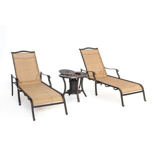 Three Posts Lauritsen 3 Piece Chaise Lounge Chair Set