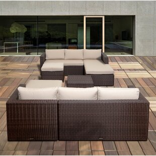 Straun 6 Piece Sunbrella Sectional Set with Cushions