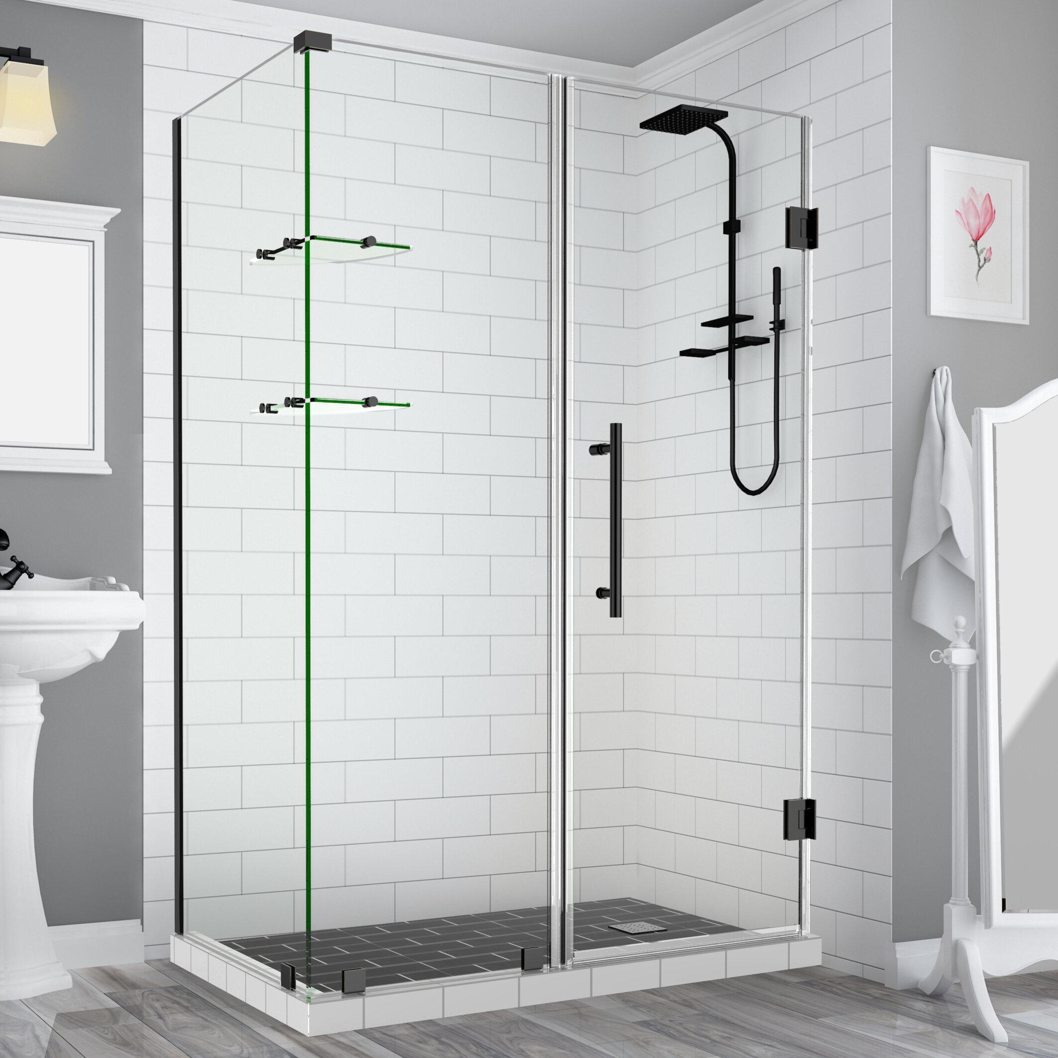 Aston Bromley Gs 32 X 72 Rectangle Hinged Shower Enclosure Wayfair