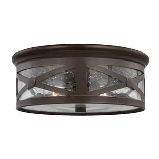 Outdoor flush mount lights youll love burwood 2 light outdoor flush mount workwithnaturefo