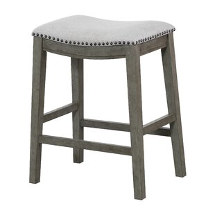 Rosecliff Heights Clewiston Counter Saddle Stools (Set of 2)