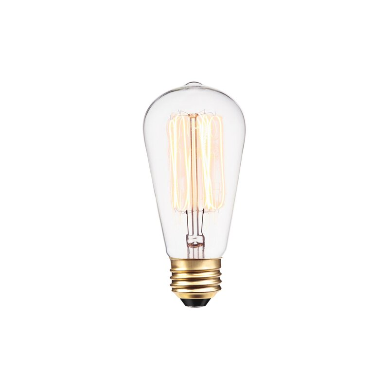 40 Watt, A19 Incandescent Dimmable Light Bulb, Warm White ...
