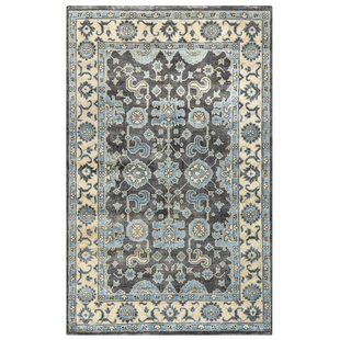 Basse Hand-Knotted Ivory/Charcoal Area Rug ByMeridian Rugmakers