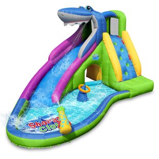 Inflatable Water Slide Shark Bounce House By Action Air