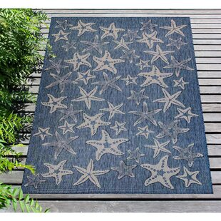 Desantiago Starfish Navy Indoor/Outdoor Area Rug