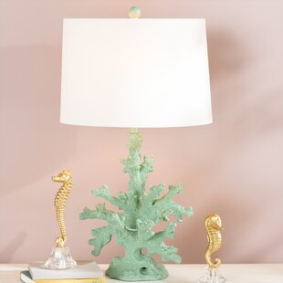 Coral table lamp wayfair brinkmann coral 28 table lamp aloadofball Images