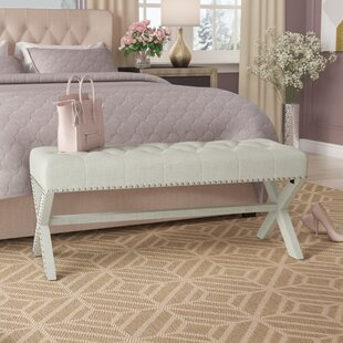 Hafer Tufted Nailhead Upholstered Bench