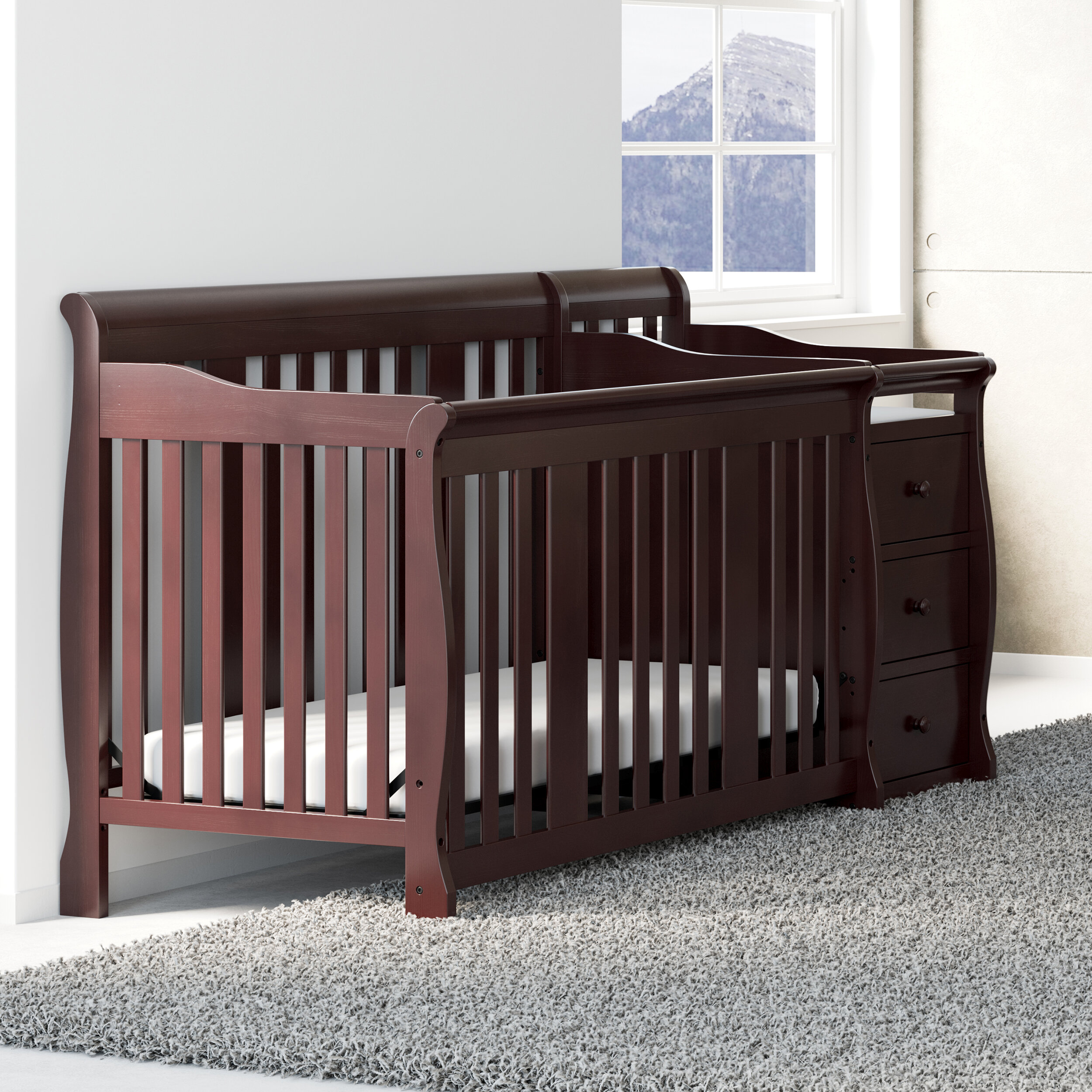 Storkcraft Portofino 4 In 1 Convertible Crib And Changer Reviews Wayfair
