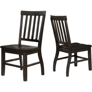 Alcorn Solid Wood Dining Chair (Set Of 2) by One Allium Way Bargain