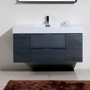 Floating Or Wall Mounted Vanities Youll Love Wayfair - Wall hung vanity cabinets
