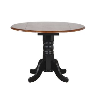 Banksville Extendable Solid Wood Dining Table Loon Peak