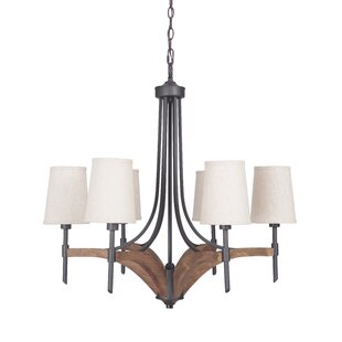 Gracie Oaks Polen 6-Light Shaded Chandelier