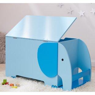 Best Reviews Zoo Kingdom Elephant Toy Storage Bench ByTeamson Kids