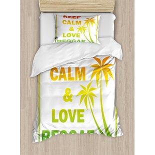 Rasta Keep Calm And Love Reggae Quote Music Themed Duvet Set